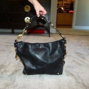 Coach Carly Black Leather